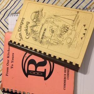 Vintage Cookbooks San Diego's Cooking Signed + one
